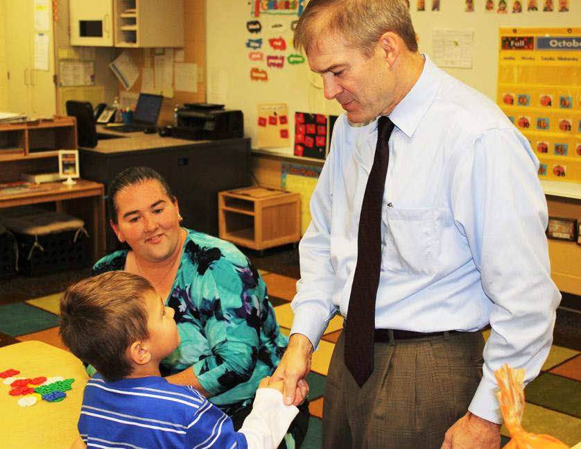 Jim Jordan greets KLP students